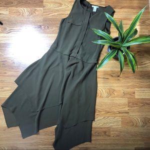 H&M army green handkerchief dress. Size 2